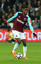 April 16, 2018 - London, England, United Kingdom - West Ham United's Edimilson Fernandes.during English Premier League match between West Ham United and Stoke City at London stadium, London, England on 16 April 2018. (Credit Image: © Kieran Galvin/NurPhoto via ZUMA Press)
