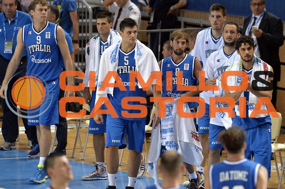 DESCRIZIONE : Capodistria Koper Slovenia Eurobasket Men 2013 Preliminary Round Russia Italia Russia Italy<br /> GIOCATORE : Team <br /> CATEGORIA : Esultanza<br /> SQUADRA : Italia<br /> EVENTO : Eurobasket Men 2013<br /> GARA : Russia Italia Russia Italy<br /> DATA : 04/09/2013<br /> SPORT : Pallacanestro&nbsp;<br /> AUTORE : Agenzia Ciamillo-Castoria/GiulioCiamillo<br /> Galleria : Eurobasket Men 2013 <br /> Fotonotizia : Capodistria Koper Slovenia Eurobasket Men 2013 Preliminary Round Russia Italia Russia Italy<br /> Predefinita :