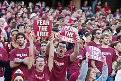 November 6, 2010; Stanford, CA, USA;  Stanford Cardinal fans during the first quarter against the Arizona Wildcats at Stanford Stadium.