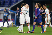 Dzsenifer Marozsan of Lyon and Eugenie Le Sommer of Lyon during the UEFA Women's Champions League, quarter final, 1st leg football match between Olympique Lyonnais and FC Barcelona on march 22, 2018 at Groupama stadium in Decines Charpieu near Lyon, France - Photo Romain Biard / Isports / ProSportsImages / DPPI