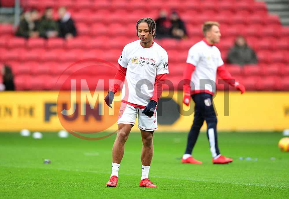Bobby Reid of Bristol City warms up  - Mandatory by-line: Joe Meredith/JMP - 10/02/2018 - FOOTBALL - Ashton Gate Stadium - Bristol, England - Bristol City v Sunderland - Sky Bet Championship