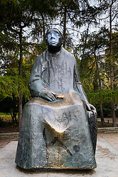 Statue of Kathe Kollwitz in Prenzlauer Berg in Berlin Germany