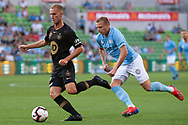 MELBOURNE, VIC - JANUARY 22: Western Sydney Wanderers defender Tass Mourdoukoutas (13) passes the ball at the Hyundai A-League Round 15 soccer match between Melbourne City FC and Western Sydney Wanderers at AAMI Park in VIC, Australia 22 January 2019. Image by (Speed Media/Icon Sportswire)