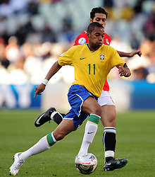 Ribinho  during the third soccer match of the 2009 Confederations Cup between Brazil and Egypt played at Vodacom Park,Bloemfontein,South Africa on 15 June 2009.  Photo: Gerhard Steenkamp/Superimage Media.