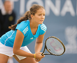 LIVERPOOL, ENGLAND - Thursday, June 18, 2009: Laura Robson (GBR) during Day Two of the Tradition ICAP Liverpool International Tennis Tournament 2009 at Calderstones Park. (Pic by David Rawcliffe/Propaganda)
