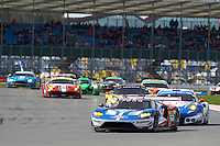 Marino Franchitti (GBR) / Andy Priaulx (GBR) / Harry Tincknell (GBR) #67 Ford Chip Ganassi Racing Team UK Ford GT, during opening laps of the race as part of the WEC 6 Hours of Silverstone 2016 at Silverstone, Towcester, Northamptonshire, United Kingdom. April 17 2016. World Copyright Peter Taylor.