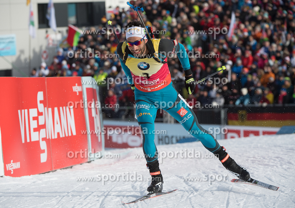12.02.2017, Biathlonarena, Hochfilzen, AUT, IBU Weltmeisterschaften Biathlon, Hochfilzen 2017, Verfolgung Herren, im Bild Martin Fourcade (FRA) // Martin Fourcade of France during Mens pursuit of the IBU Biathlon World Championships at the Biathlonarena in Hochfilzen, Austria on 2017/02/12. EXPA Pictures © 2017, PhotoCredit: EXPA/ Reinhard Eisenbauer
