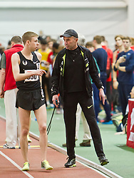 Boston University Terrier Classic Indoor Track Meet: Galen Rupp, Oregon Project, wins Elite Mile 3:50.92, with coach Alberto Salazar
