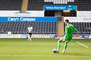 Swansea City goalkeeper Freddie Woodman (1) during the EFL Sky Bet Championship match between Swansea City and Birmingham City at the Liberty Stadium, Swansea, Wales on 19 September 2020.