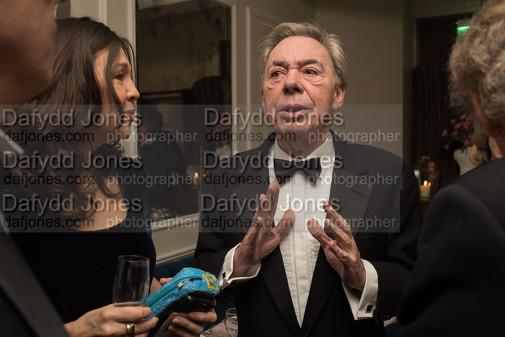 LORD LLOYD WEBBER, Nicky Haslam hosts dinner at  Gigi's for Leslie Caron. 22 Woodstock St. London. W1C 2AR. 25 March 2015