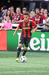 October 21, 2018 - Atlanta, GA, U.S. - ATLANTA, GA - OCTOBER 21: Atlanta United midfielder Ezequiel Barco (8) during the MLS game between the Atlanta United and the Chicago Fire on October 21, 2018 at the Mercedes-Benz Stadium in Atlanta, GA. Atlanta United FC secured a place in next year's CONCACAF Champions League with a 2-1 victory against the visiting Chicago Fire. (Photo by John Adams/Icon Sportswire) (Credit Image: © John Adams/Icon SMI via ZUMA Press)