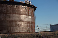1/13/2016, Oil storage tanks in Cushing, Oklahoma. An increase in earthquakes spread worry about the safety of the tanks.