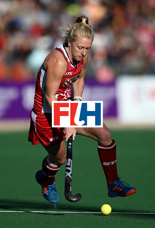 JOHANNESBURG, SOUTH AFRICA - JULY 16:  Jill Witmer of United States of America during day 5 of the FIH Hockey World League Women's Semi Finals Pool B match between South Africa and United States of America at Wits University on July 16, 2017 in Johannesburg, South Africa.  (Photo by Jan Kruger/Getty Images for FIH)