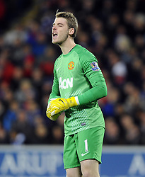Man Utd Goalkeeper David De Gea (ESP) - Photo mandatory by-line: Joseph Meredith/JMP - Tel: Mobile: 07966 386802 - 24/11/2013 - SPORT - FOOTBALL - Cardiff City Stadium - Cardiff City v Manchester United - Barclays Premier League.