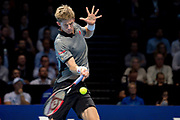 Kevin Anderson of South Africa in action  during the Nitto ATP World Tour Finals at the O2 Arena, London, United Kingdom on 15 November 2018. Picture by Martin Cole. Photo by Martin Cole