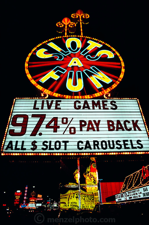Slots a' fun casino sign. Las Vegas, Nevada. USA.