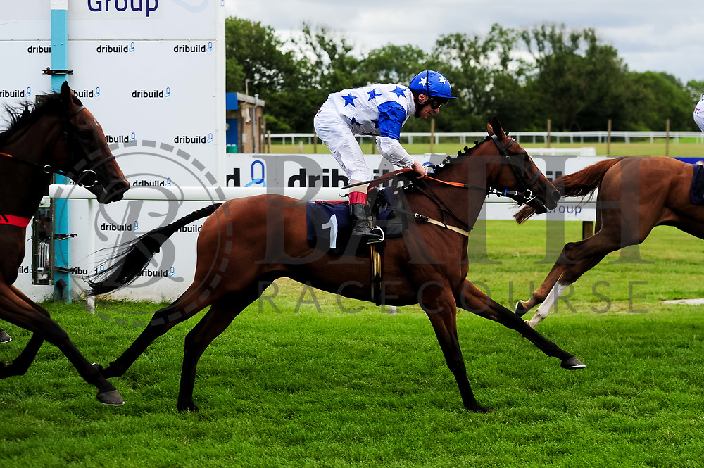 Couldn't Could She ridden by Jimmy Quinn and trained by Adam West in the Sky Sports Racing Sky 415 Fillies' Handicap (Class 5) race. - Ryan Hiscott/JMP - 07/08/2019 - PR - Bath Racecourse - Bath, England - Race Meeting at Bath Racecourse