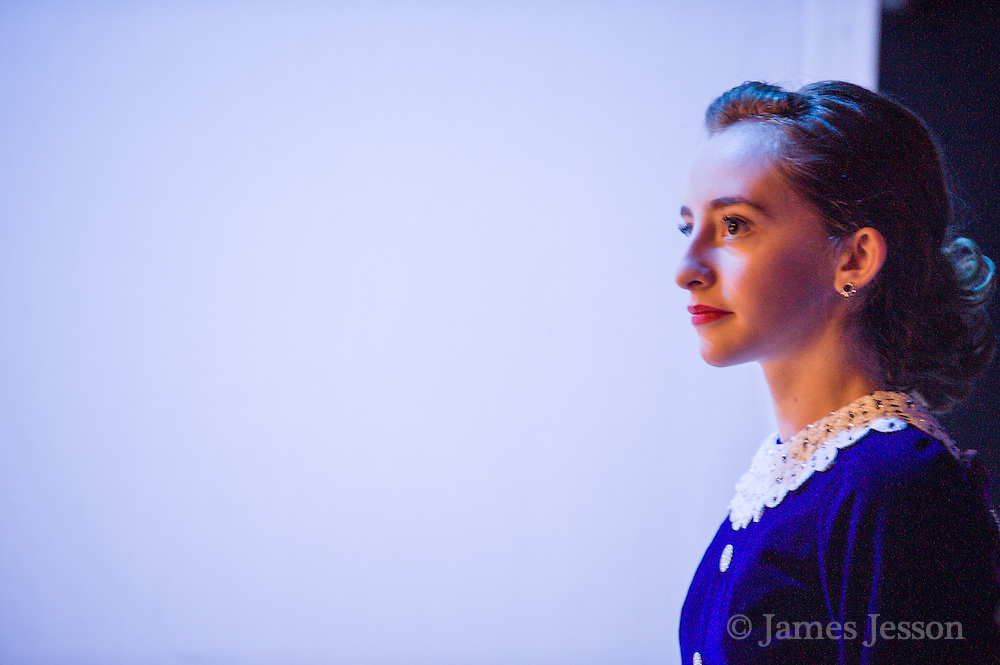 Isabelle Patriquin, of Chelmsford, waits to walk out on stage during a Worlds Preview Party at Chelmsford High School featuring dancers who have qualified for the Irish Dance World Championships in Montreal, Mar. 21, 2015.   (Wicked Local Photo/James Jesson).