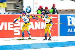 Elisabeth Hoegberg (SWE) during exchange the Mixed Relay 2x 6 km / 2x 7,5 km at day 3 of IBU Biathlon World Cup 2019/20 Pokljuka, on January 23, 2020 in Rudno polje, Pokljuka, Pokljuka, Slovenia. Photo by Peter Podobnik / Sportida