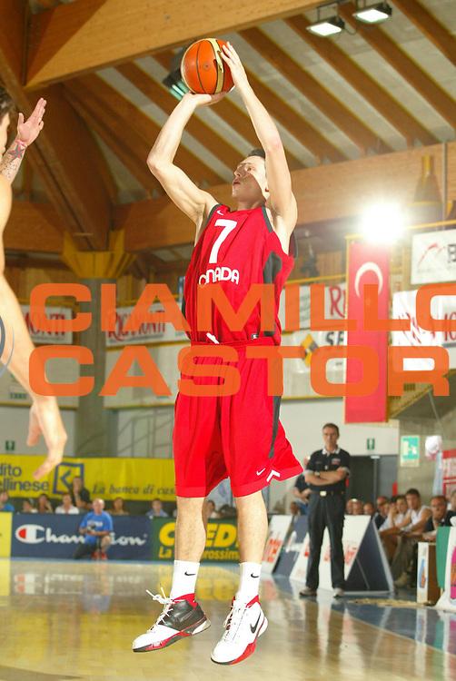 DESCRIZIONE : Bormio Trofeo Internazionale Diego Gianatti Canada Italia <br />GIOCATORE : Rautins <br />SQUADRA : Canada <br />EVENTO : Bormio Trofeo Internazionale Diego Gianatti Canada Italia <br />GARA : Canada Italia<br />DATA : 21/07/2006 <br />CATEGORIA : Tiro  <br />SPORT : Pallacanestro <br />AUTORE : Agenzia Ciamillo-Castoria/M.Marchi
