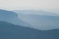 Greece, Meteora, landscape from St. Stephan Monastery