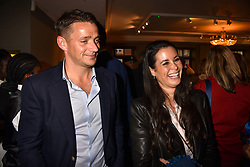 Artist Steph Smart and her husband Ross Desmond at the third annual Fortnum's x Frank exhibition at Fortnum & Mason, 181 Piccadilly, London, UK on September 12, 2018.<br /> 12 September 2018.