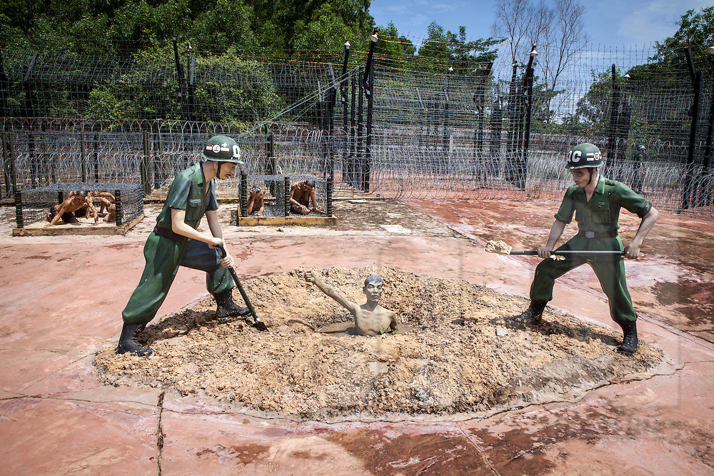 Phu quoc prison memorial, aka 'Coconut Tree Prison', highway 46. What is paradise for tourists today was once hell on earth for tens of thousands of Vietnamese revolutionaries, who were imprisoned here first by French colonial forces and later by the US-led southern Vietnamese 'puppet regime'. ..Phu Quoc Island, Vietnam, Asia 2012