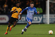 Medy Elito of Cambridge United and Padraig Amond of Hartlepool United in action during the EFL Sky Bet League 2 match between Cambridge United and Hartlepool United at the Cambs Glass Stadium, Cambridge, England on 14 March 2017. Photo by Harry Hubbard.