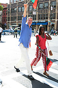 September 16, 2012- Harlem, New York: New York City Public Advocate Bill De Blasio at the 42nd Annual African American Day Parade held along Adam Clayton Blvd on September 16, 2012 in Harlem New York City. The first African American Day Parade was held in September 1969 in Harlem. The first Grand Marshal was Congressman Adam Clayton Powell, Jr. The purpose of the parade is to provide an opportunity for African people to join together on a Special Day to highlight history and salute African people throughout America and the world for their outstanding achievements. (Terrence Jennings)
