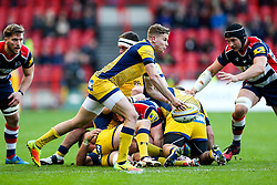 Michael Dowsett of Worcester Warriors in action - Rogan Thomson/JMP - 26/12/2016 - RUGBY UNION - Ashton Gate Stadium - Bristol, England - Bristol Rugby v Worcester Warriors - Aviva Premiership Boxing Day Clash.