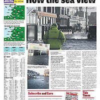 Cutting from the Blackpool Gazette of the weather which affected Blackpool Seafront.