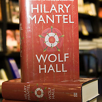 LONDON, ENGLAND - OCTOBER 5: Shortlisted book by Hilary Mantel, Wolf Hall, is displayed at Hatchards in Piccadilly, ahead of the Man Booker Prize 2009 on October 5, 2009 in London, England....***Agreed Fee's Apply To All Image Use***.Marco Secchi /Xianpix. tel +44 (0) 771 7298571. e-mail ms@msecchi.com .www.marcosecchi.com