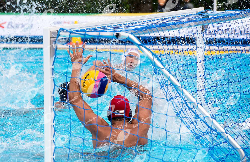 1 MERRILL Moses USA<br /> Serbia SRB - United States USA<br /> day 01 - 23/06/2015<br /> FINA Water Polo World League Superfinal Men<br /> Bergamo (ITA) 23-28 June 2015<br /> Photo G.Scala/Deepbluemedia