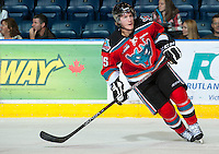 KELOWNA, CANADA - OCTOBER 3: Colton Sissons #15 of the Kelowna Rockets skates against the Vancouver Giants at the Kelowna Rockets on October 3, 2012 at Prospera Place in Kelowna, British Columbia, Canada (Photo by Marissa Baecker/Getty Images) *** Local Caption *** Colton Sissons;