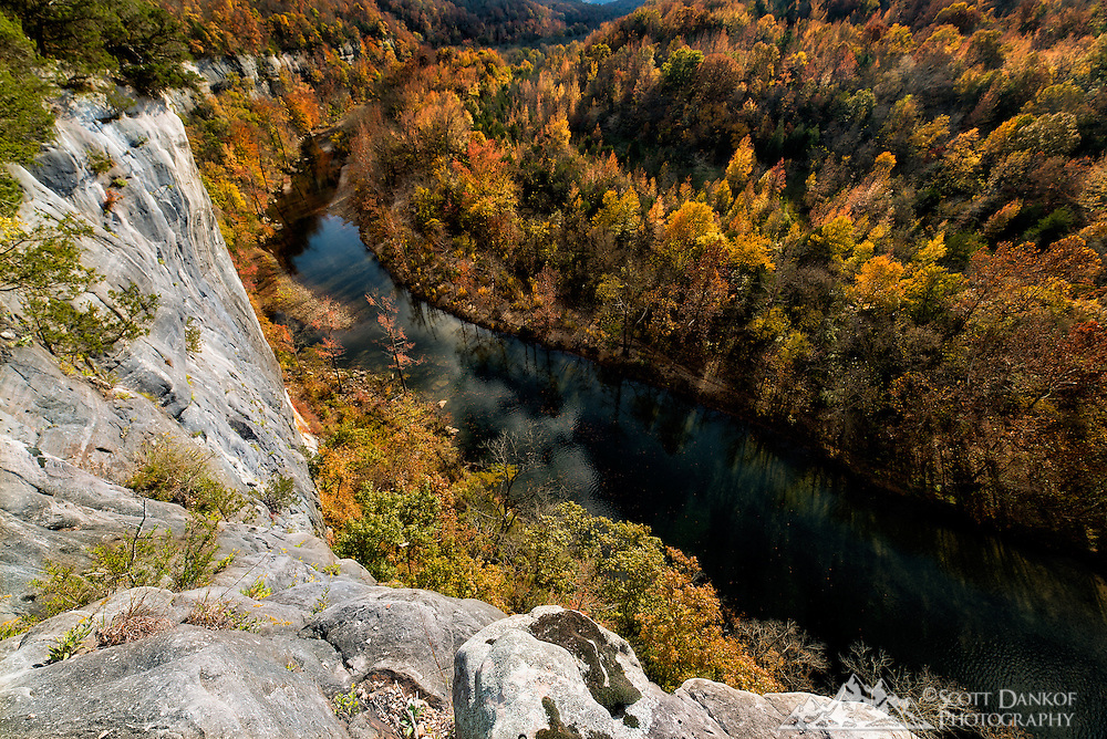 Fall colors from high above the Buffalo National River, Ark.