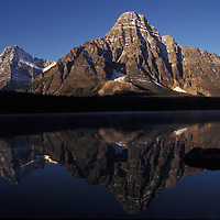Mount Chephren above Waterfowl Lale. Banff National Park, Canada.