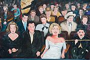 Humphrey Bogart, James Dean, Marilyn Monroe, Mural, Painting, stars, street, tourism, tourist attraction, travel, united states america, USA,