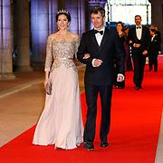 NLD/Amsterdam/20130429- Afscheidsdiner Konining Beatrix Rijksmuseum, princess Mary and husband prince Frederik of denemarken