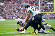 Touchdown, Tennessee Titans Luke Stocker TE (88) catches a pass in the end zone during the International Series match between Tennessee Titans and Los Angeles Chargers at Wembley Stadium, London, England on 21 October 2018.