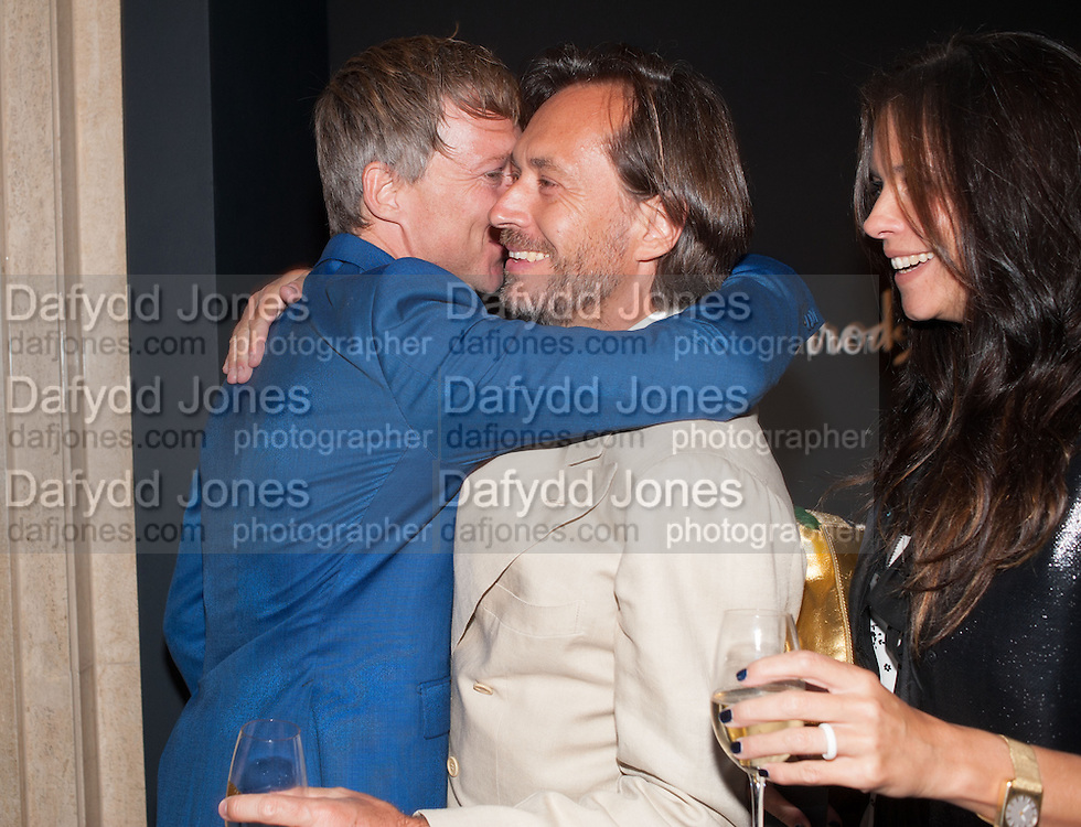 JEFFERSON HACK; MARC NEWSON, Dinner to celebrate the opening of the first Berluti lifestyle store hosted by Antoine Arnault and Marigay Mckee. Harrods. London. 5 September 2012.