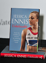 Jessica Ennis book during her signing at Waterstones, Canary Wharf, London, UK, November 9, 2012. Photo by Nils Jorgensen / i-Images.