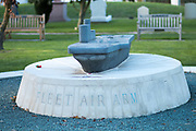 The Fleet Air Arm memorial at the National Memorial Arboretum, Croxall Road, Alrewas, Burton-On-Trent,  Staffordshire, on 29 October 2018. Picture by Mick Haynes.