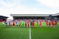 Mascots line up - Rogan Thomson/JMP - 22/10/2016 - FOOTBALL - Ashton Gate Stadium - Bristol, England - Bristol City v Blackburn Rovers - Sky Bet EFL Championship.