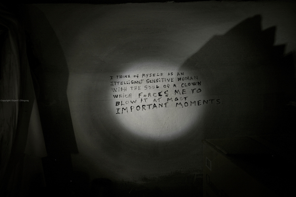 Kreggs poem on the wall inside the storm drain.<br /> <br /> Sin City is the ultimate amusement park for adults. For some unlucky few, Vegas is anything but fun. They live in the storm drains right underneath The Strip. <br /> Did this story together with brilliant journalist @randifuglehaug in February 2011.