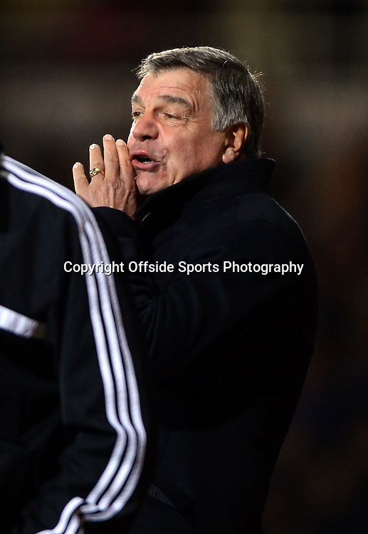 26 March 2014 - Barclays Premier League - West Ham United v Hull City - Sam Allardyce, Manager of West Ham United - Photo: Marc Atkins / Offside.