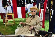 Woman dressed in typical Civil War era clothing; member of Idaho Civil War Volunteers