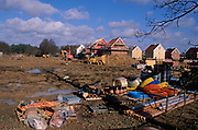 A913M6 New private housing estate being constructed Rendlesham Suffolk England