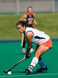 Virginia Cavaliers Inge Kaars Sijpesteijn (11) in action against UMD.  The #1 ranked Maryland Terrapins defeated the #10 ranked Virginia Cavaliers 4-3 in overtime in NCAA Field Hockey at the Turf Field on the Grounds of the University of Virginia in Charlottesville, VA on October 4, 2008.