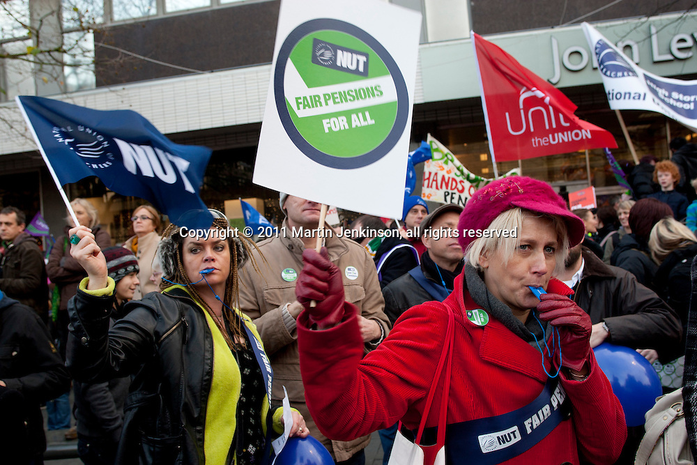 TUC Day of Action 30th November, Sheffield..© Martin Jenkinson, tel 0114 258 6808 mobile 07831 189363 email martin@pressphotos.co.uk. Copyright Designs & Patents Act 1988, moral rights asserted credit required. No part of this photo to be stored, reproduced, manipulated or transmitted to third parties by any means without prior written permission