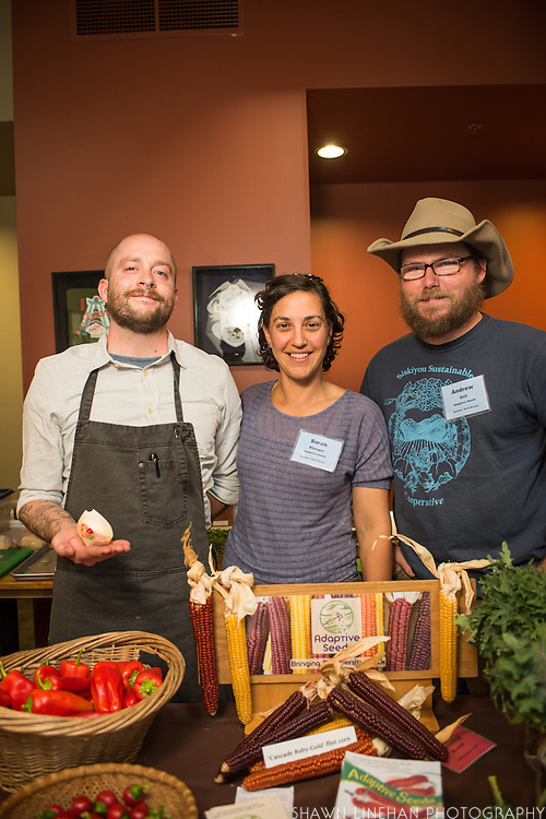Breeders Sarah Kleeger and Andrew Still provided Chef Tim Wastell with peppers with which he made a Albacore Tuna tasting.